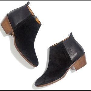 Madewell charley boot in black suede